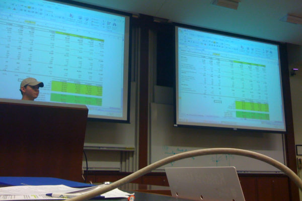 Valuations class. Expect to do 30 sheets like this and defend them in front of the class…