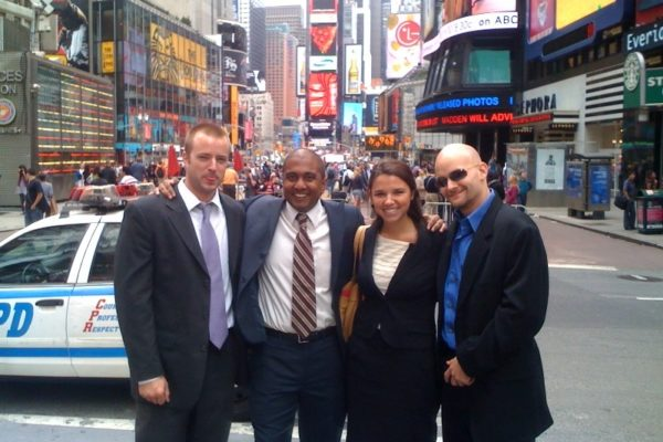 MBA 1's in Times Square for Freeman Days New York. I'm not in the picture, sorry.