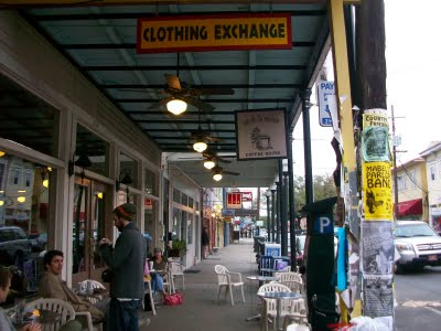 Magazine Street is one of Uptown New Orleans' major shopping thoroughfares. The shops, re
